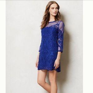Anthropologie Baraschi Rosebery Shift Dress Blue 2